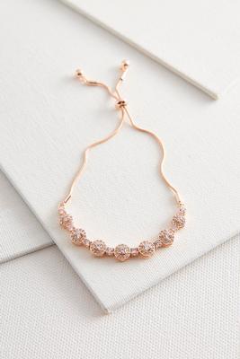 pave pull string bracelet