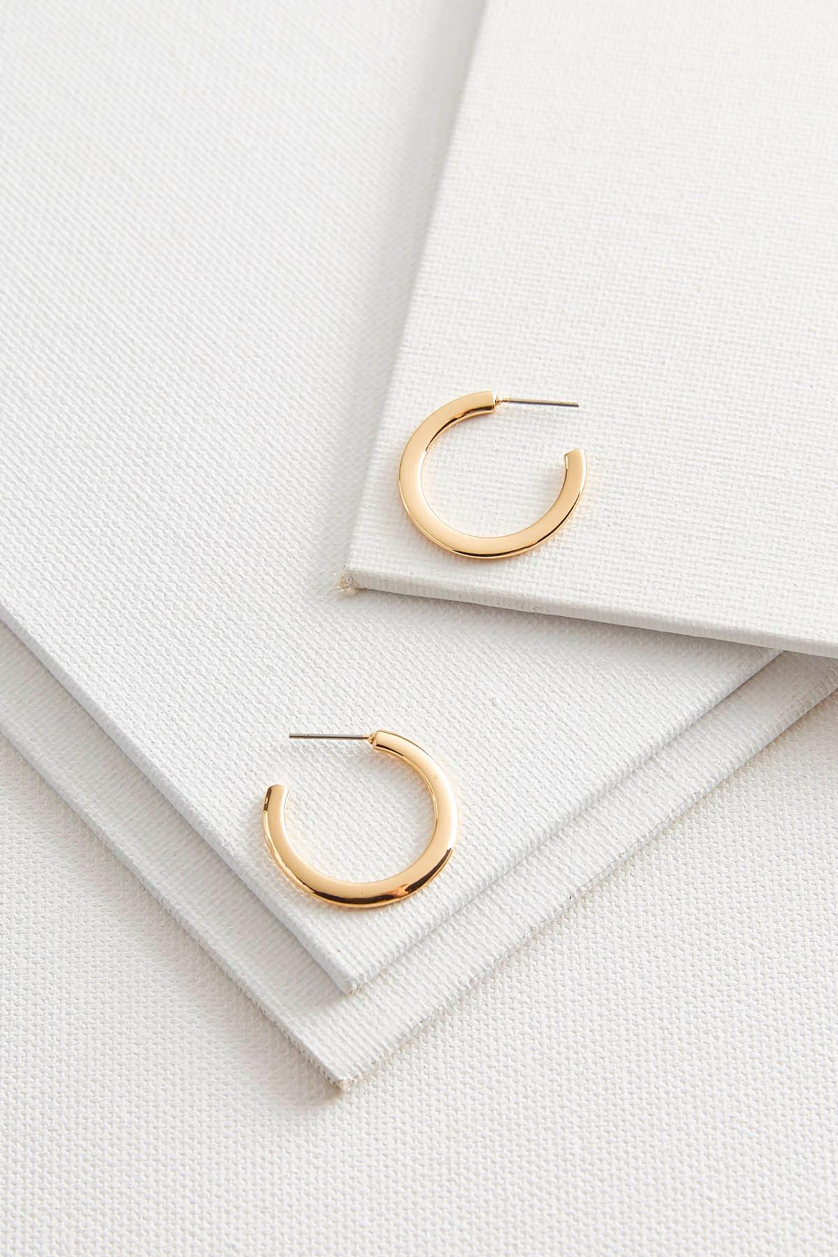 Small Flat Metal Hoops