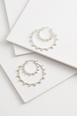 dotted double hoop earrings