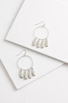 shaky beaded hoop earrings