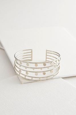 dotted multi row metal cuff