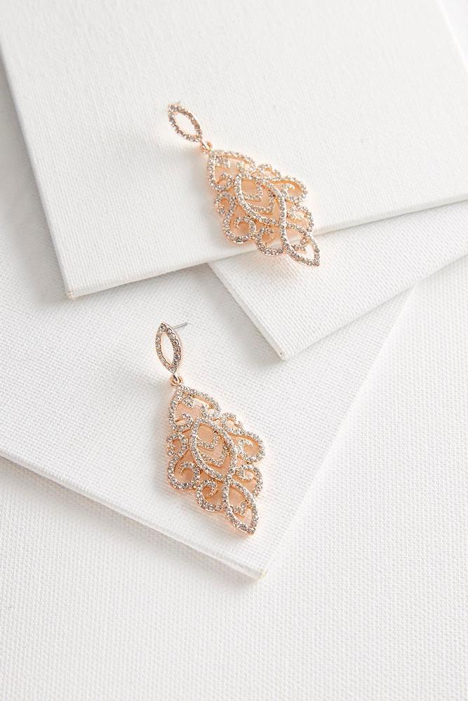 Rhinestone Chandelier Earrings