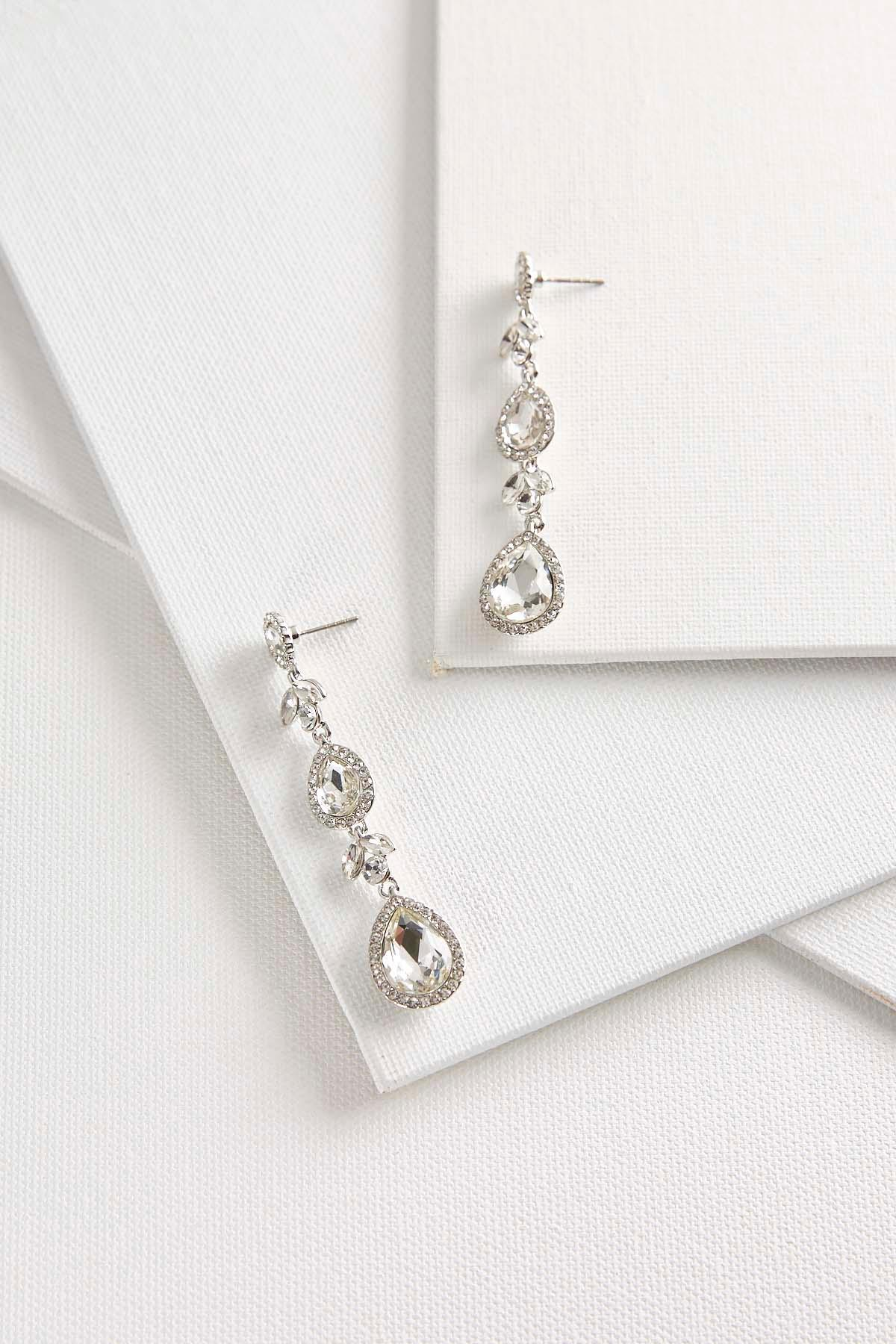 Sparkling Stone Dangle Earrings