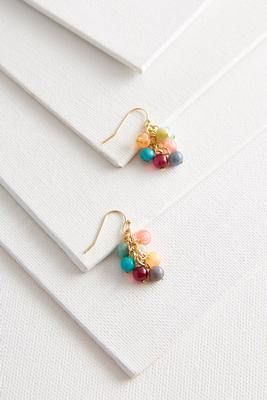 colorful bead dangle earrings