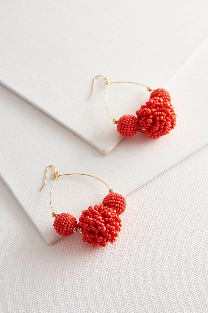 Triple Circle Seed Bead Earrings