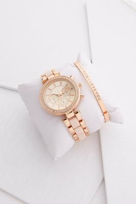 dear mom watch and bracelet set