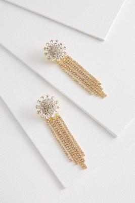 rhinestone floral statement earrings