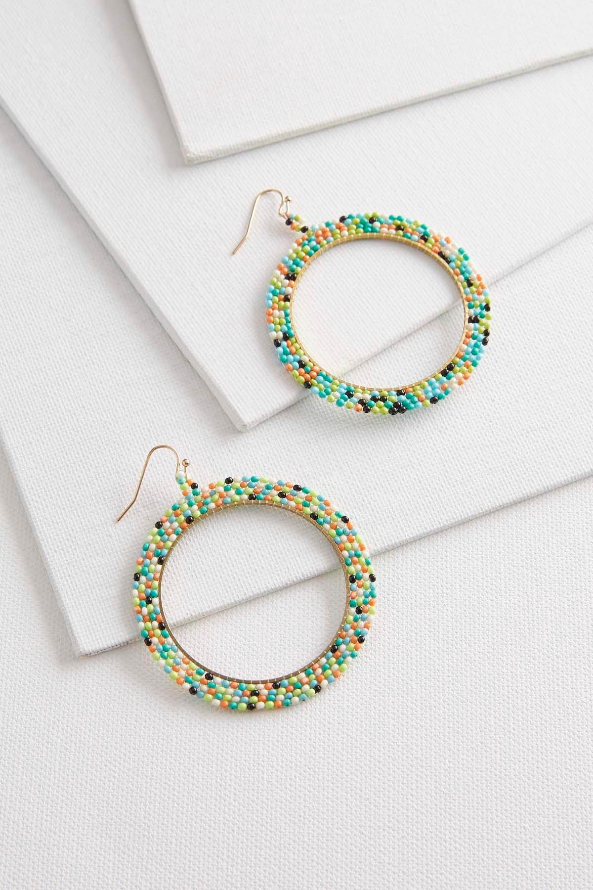 occasionally products crystal black circle earrings made cricle open