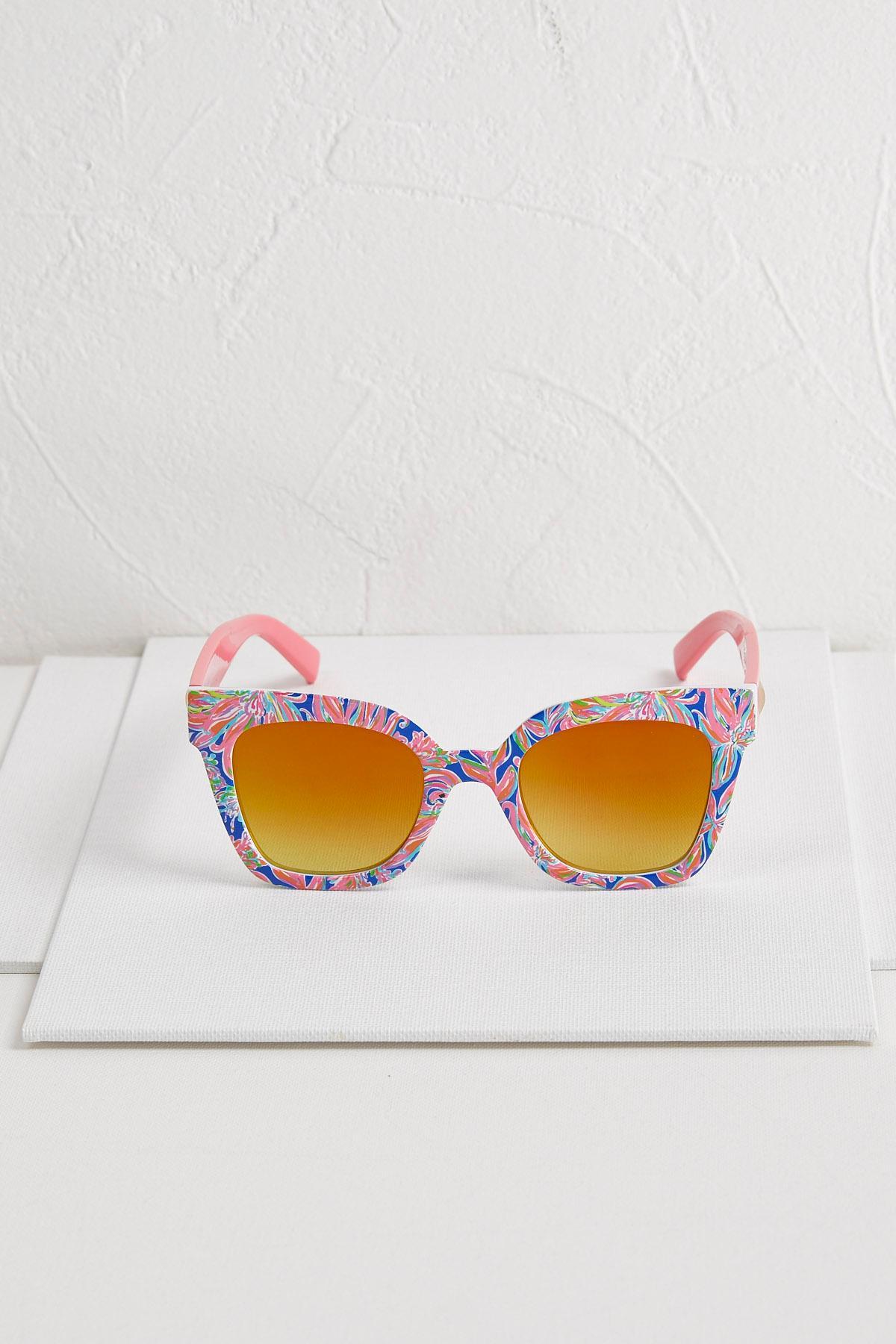 Flower Power Cat Eye Sunglasses