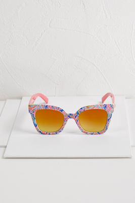 flower power cat eye sunglasses