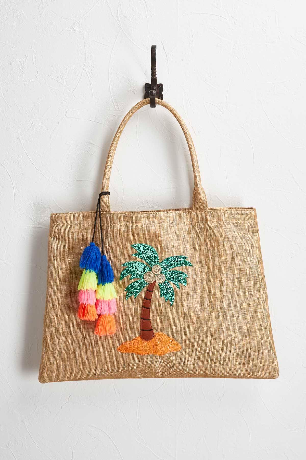 Summer Fun Embellished Jute Bag