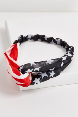 fabric stars and stripes head wrap