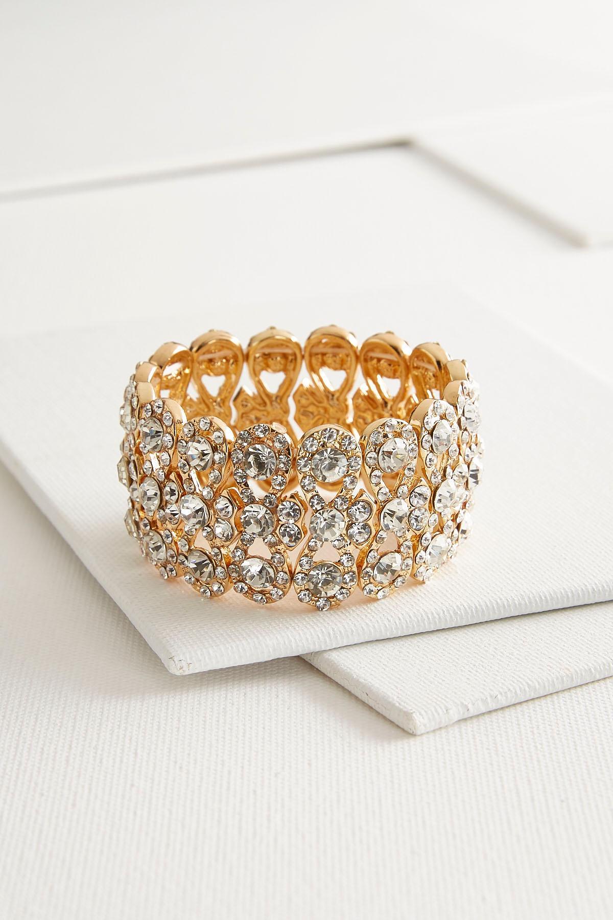 Sparkling Rhinestone Stretch Bracelet