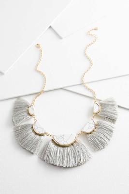 fanned tassel necklace