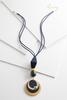 Faux Suede Mixed Bead Necklace