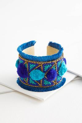 embellished ocean blue cuff