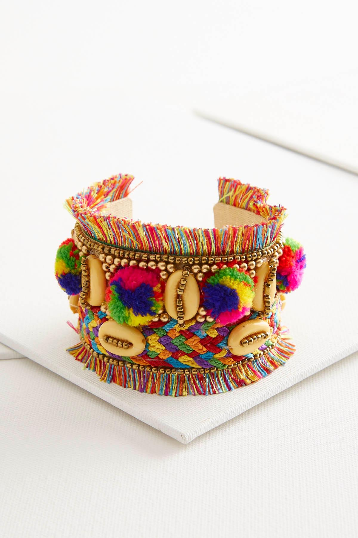 Festival Embellished Statement Cuff