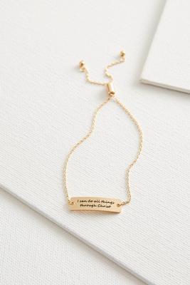 inspirational bar bracelet