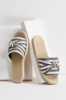 striped canvas slides