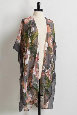 taupe tropics kimono