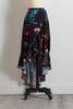 Floral Faux Wrap Midi Skirt