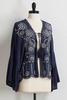 Embroidered Paisley Kimono Top