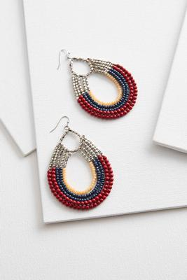 colorblock beaded earrings