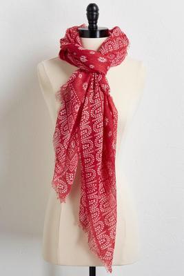 gauzy bandana oblong scarf