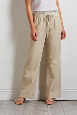linen wide leg beach pants