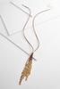 Shaky Metal Cord Necklace