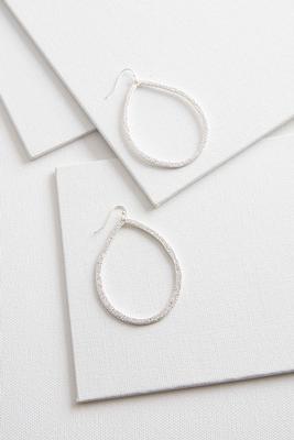large shimmery tear shaped earrings