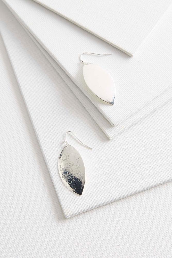 Brushed Metal Dangle Earrings