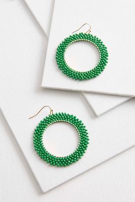 woven seed bead hoops