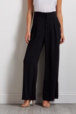 paper-bag wide leg pants