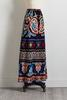 Multicolored Tie Front Maxi Skirt