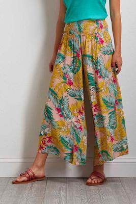 tropical gauze palazzo pants
