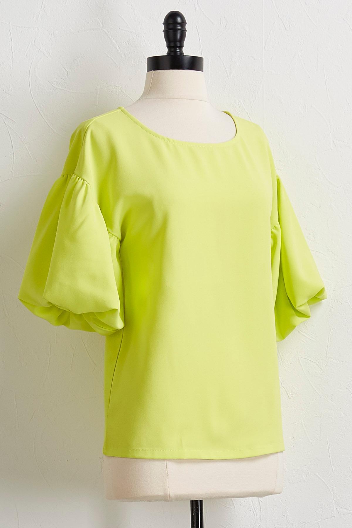Neon Puff Sleeve Top