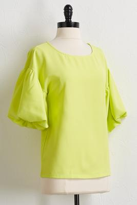 neon puff sleeve top
