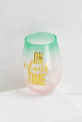 jumbo on island time wine glass