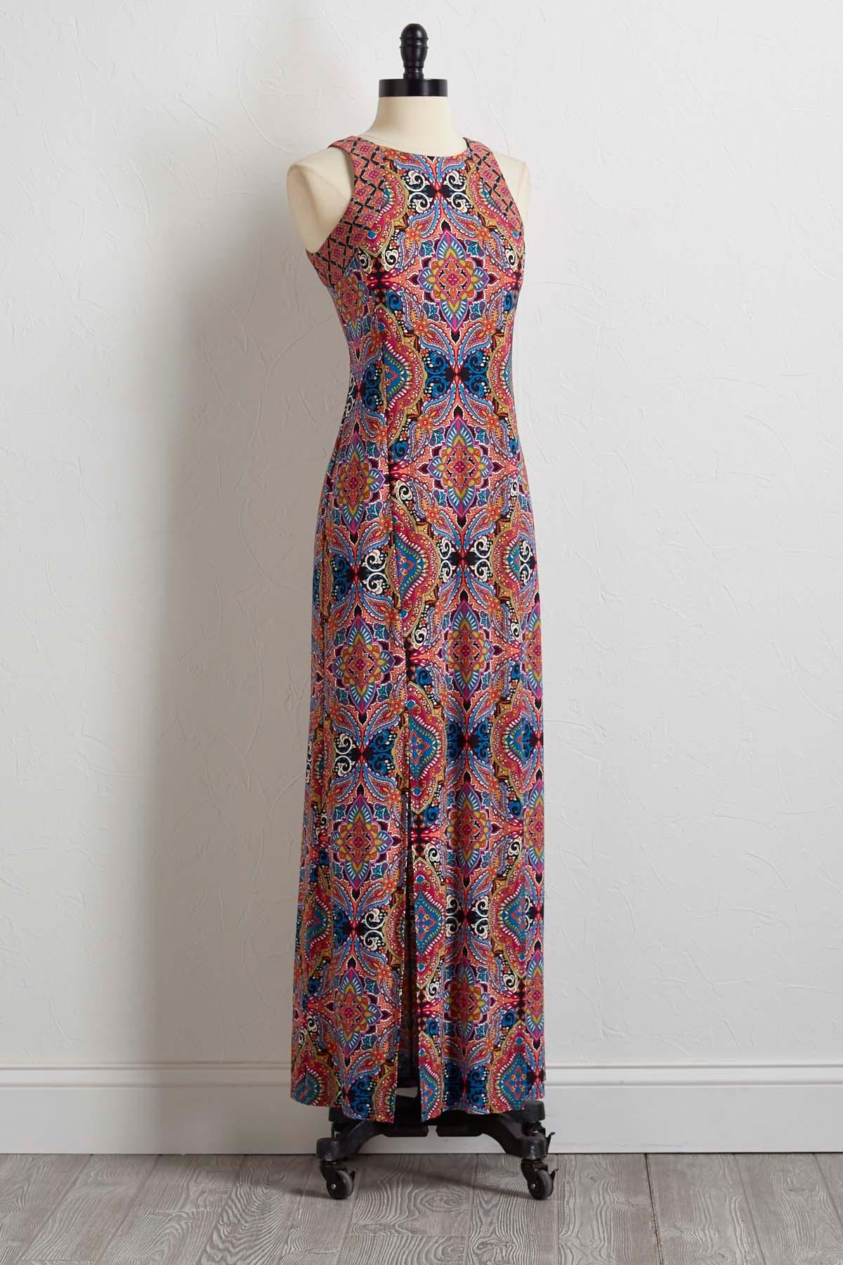 Kaleidoscope Paisley Maxi Dress