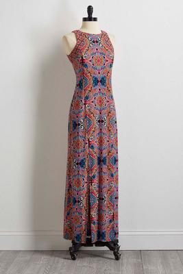 kaleidoscope paisley maxi dress