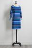 Striped Slit Sleeve Dress