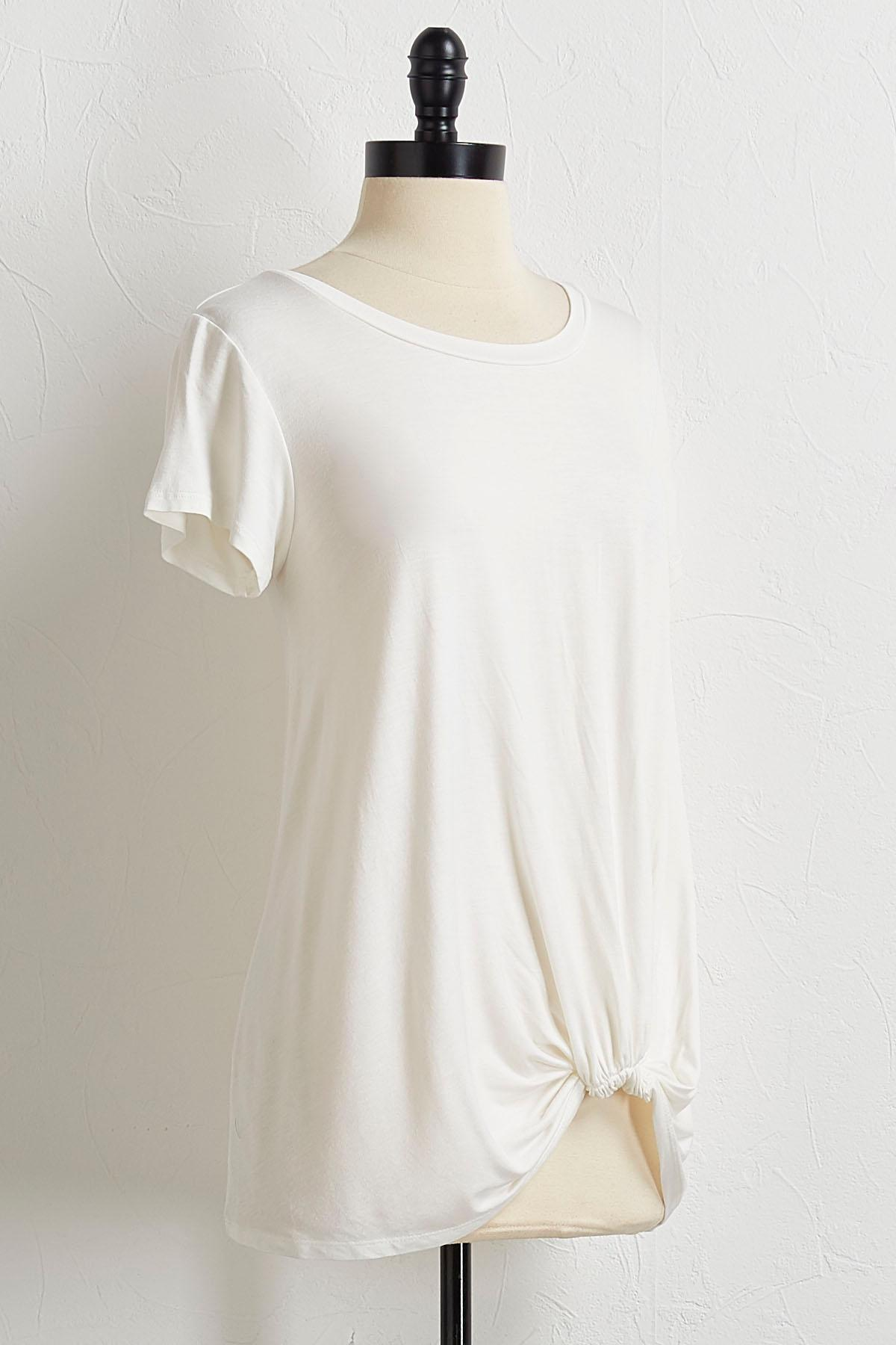 Knotted Front Tee