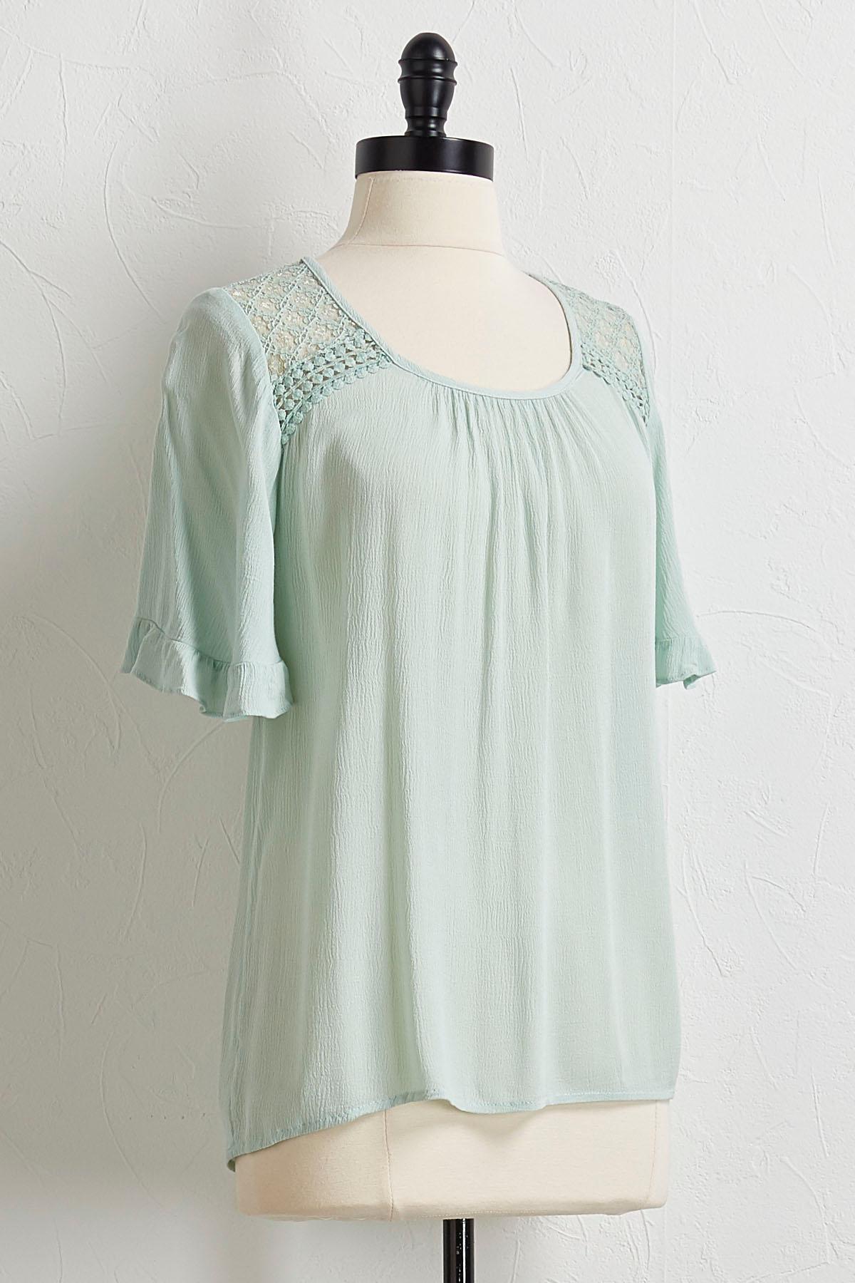Crochet Flutter Sleeve Tunic