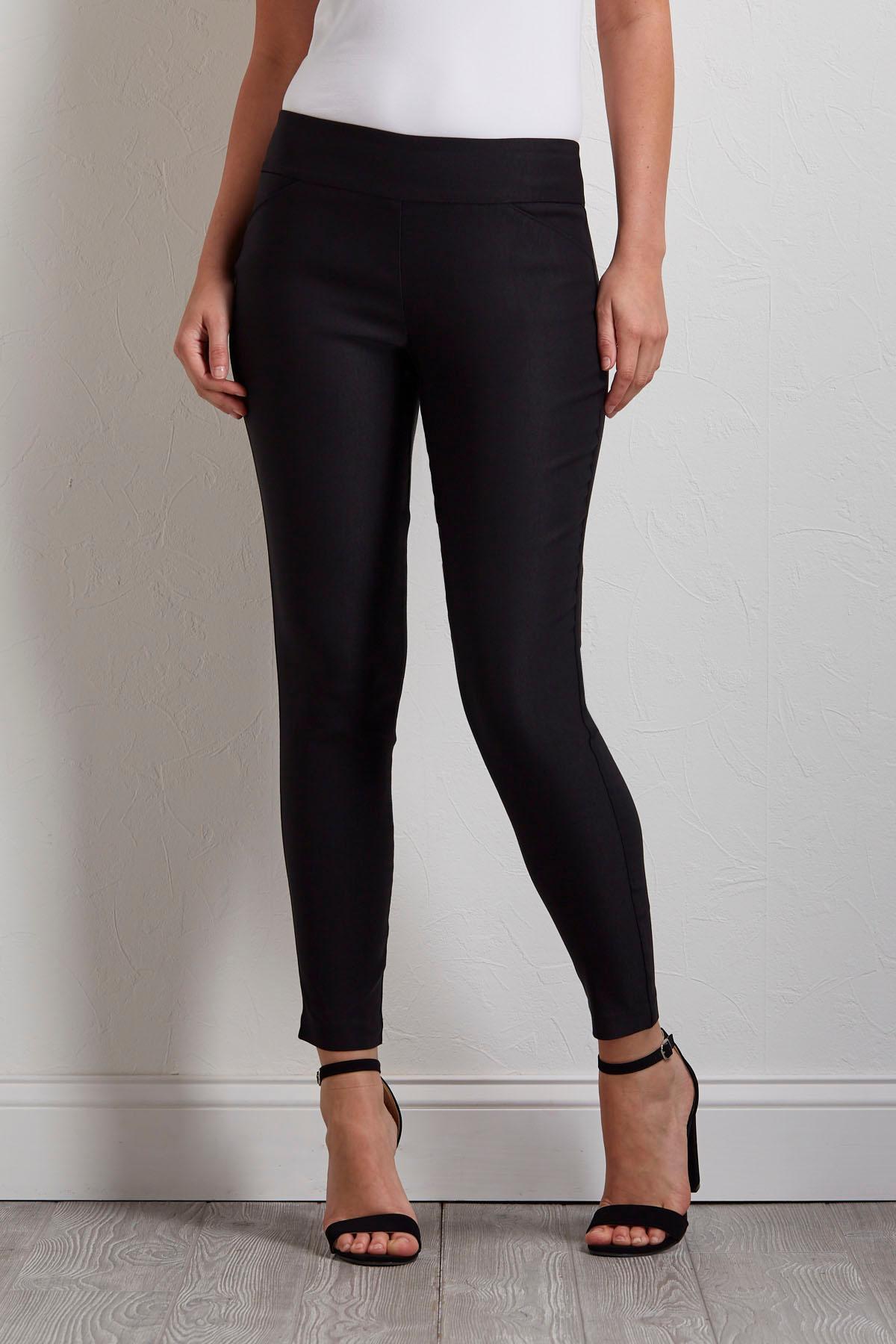 Solid Black Bengaline Pants