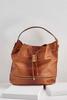 Ostrich Embellished Bucket Bag