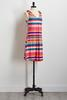 Stripe Tie Shoulder Shift Dress