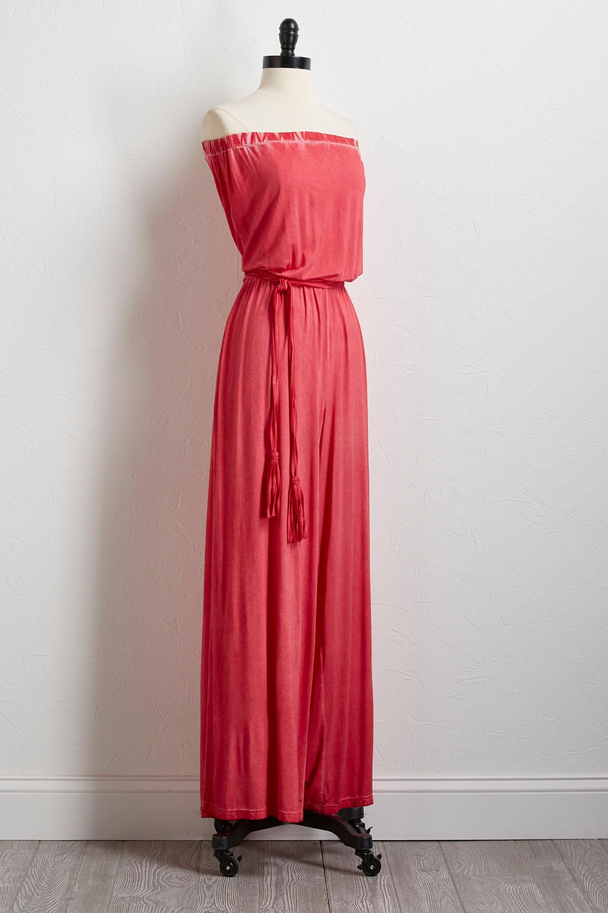 Strapless Faded Dye Jumpsuit
