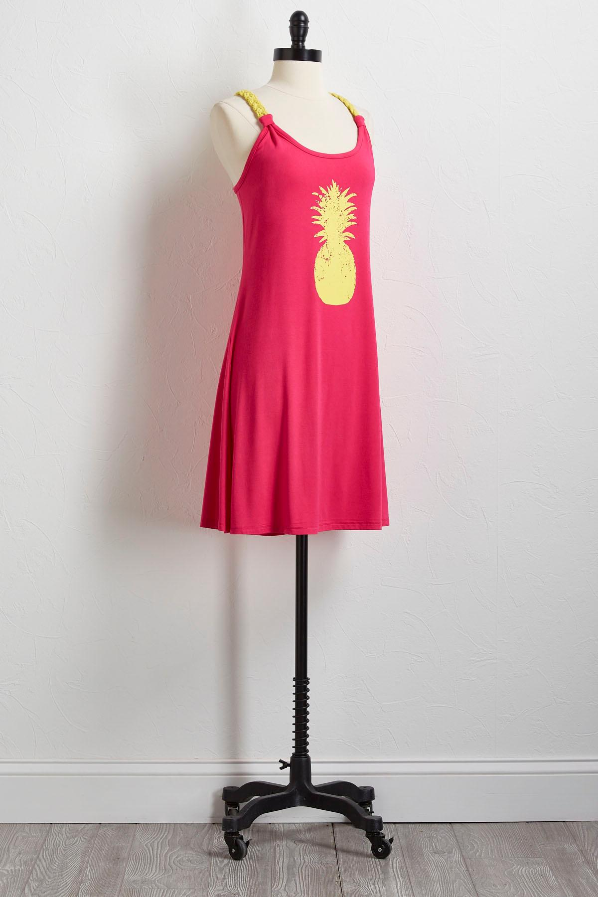 Pineapple Braided Strap Dress
