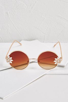 mod floral embellished sunglasses
